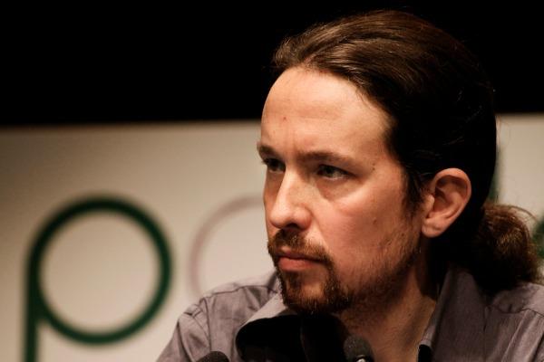 Pablo Iglesias durante la presentación de la candidatura de Podemos, el 17 de enero en Madrid (foto: Podemos)